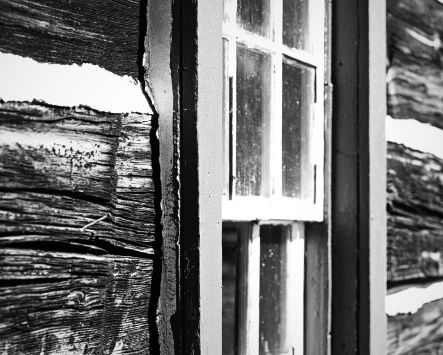 Window at O'Hara's Mill Homestead