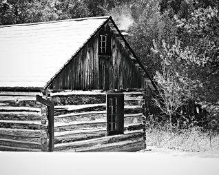 Blacksmith shop at O'Hara's Mill Homestead