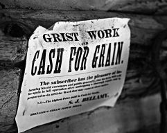 Advertisement at O'Hara's Mill Homestead