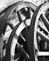 Wagon Wheels at O'Hara's Mill Homestead