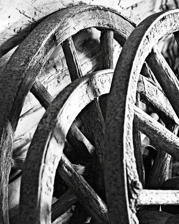 Wagon Wheels at O'Hara's Mill Homestead