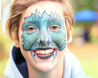 Amazing Facepainting by 'Face It Transformations'