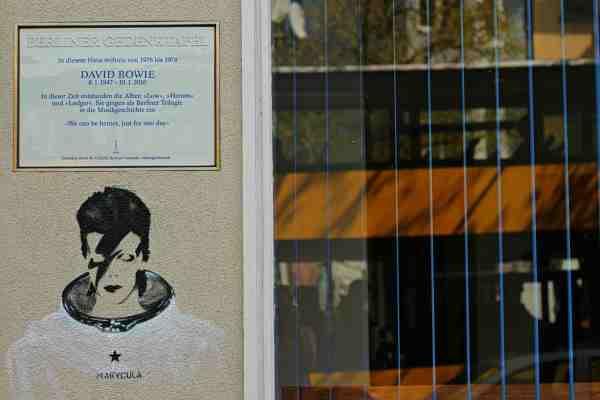 David Bowie Memorial Plaque in Berlin